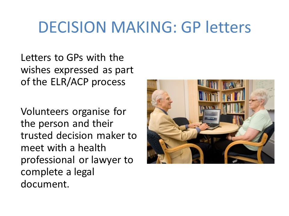 DECISION MAKING: GP letters