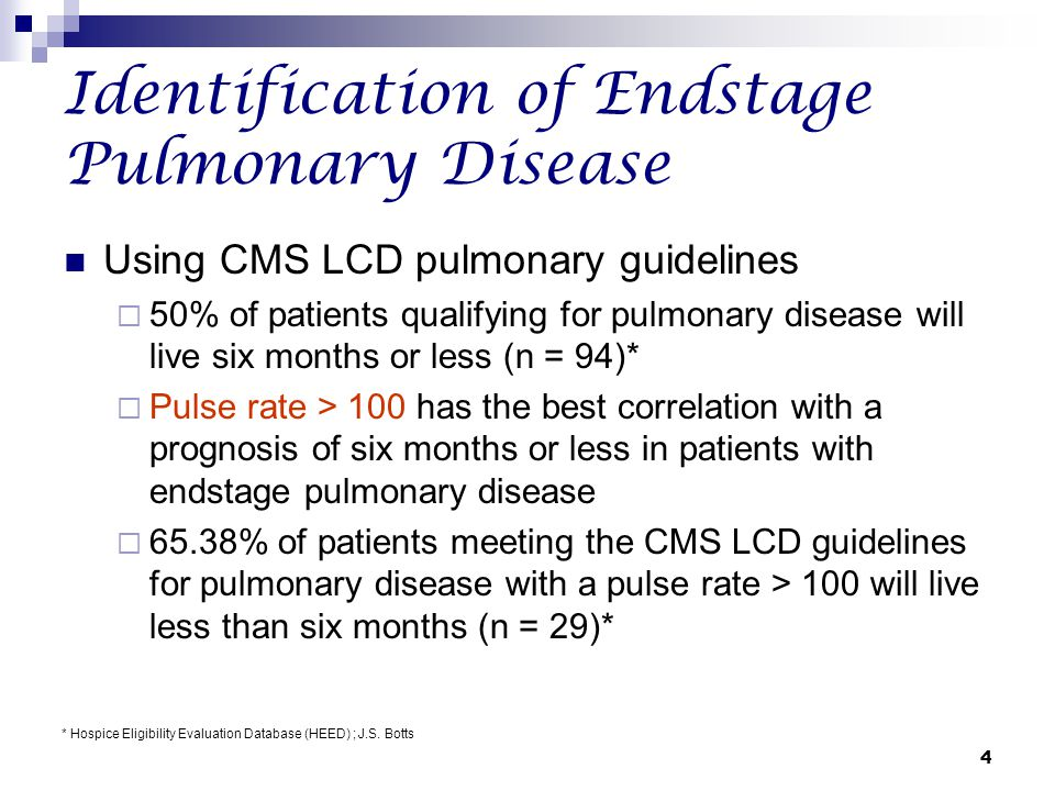 Identification of Endstage Pulmonary Disease