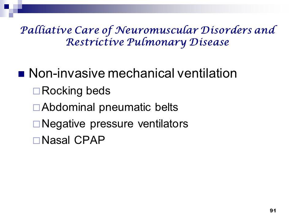 Non-invasive mechanical ventilation