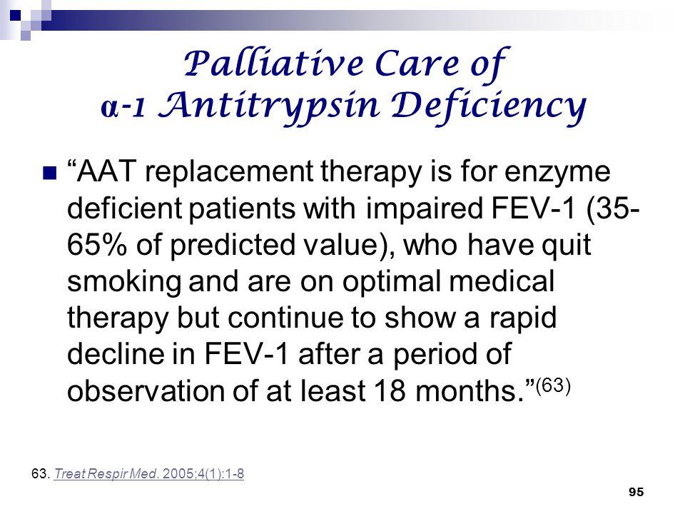 Palliative Care of α-1 Antitrypsin Deficiency