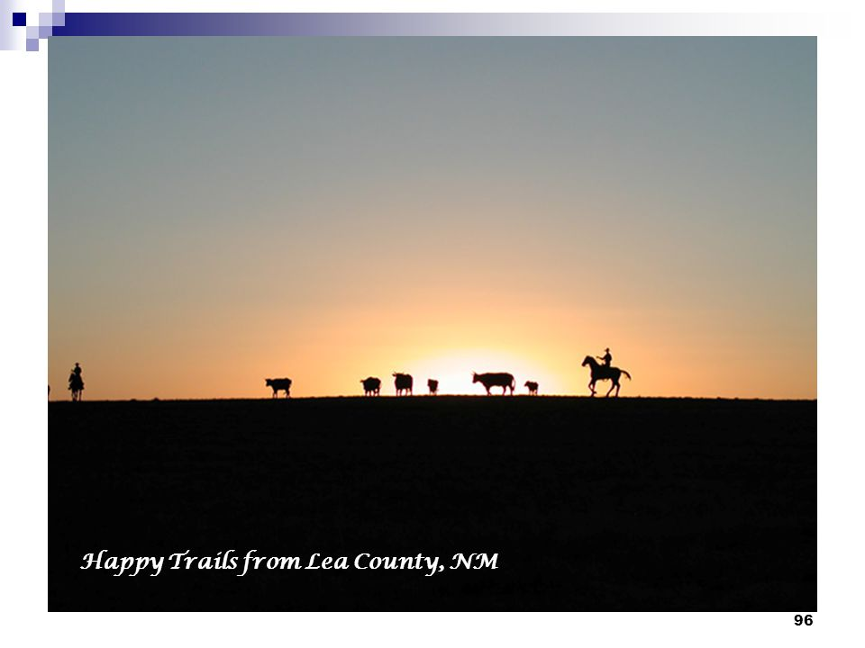 Happy Trails from Lea County, NM