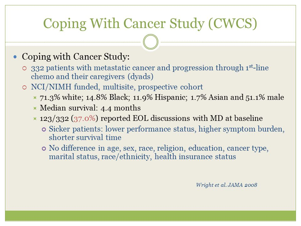Coping With Cancer Study (CWCS)