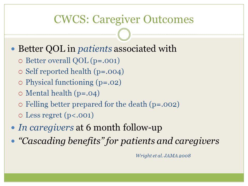 CWCS: Caregiver Outcomes