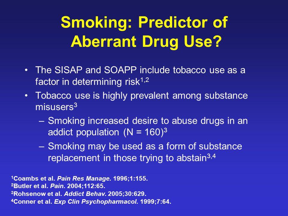 Smoking: Predictor of Aberrant Drug Use