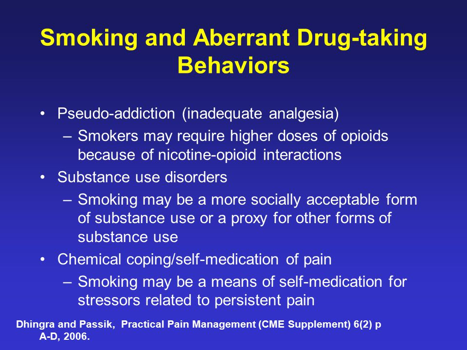 Smoking and Aberrant Drug-taking Behaviors