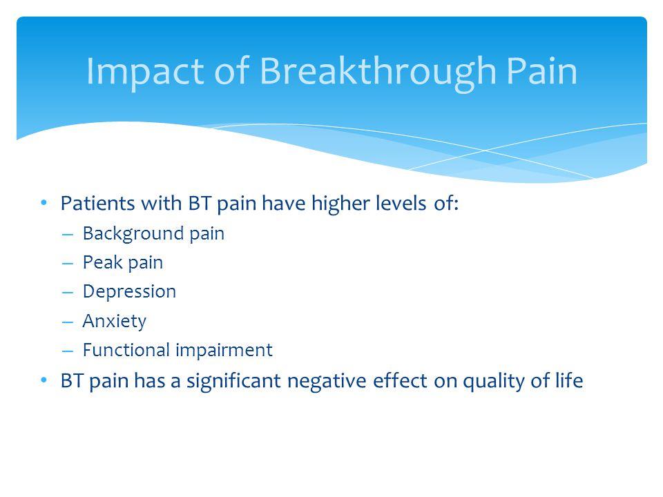 Impact of Breakthrough Pain