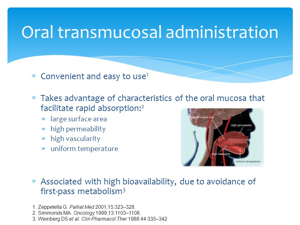 Oral transmucosal administration