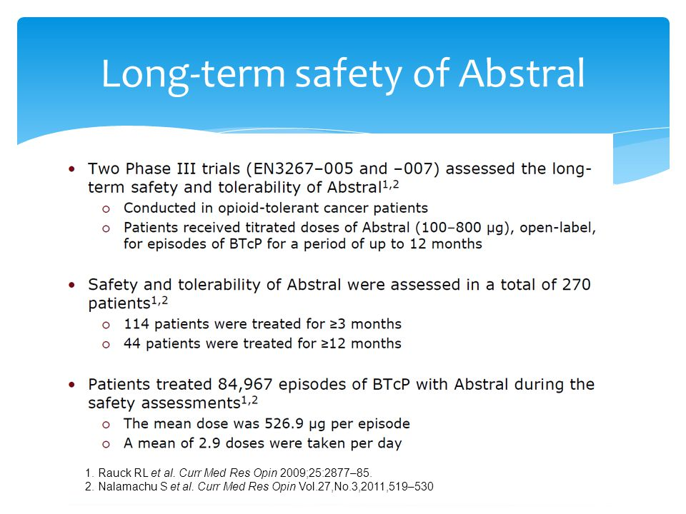 Long-term safety of Abstral