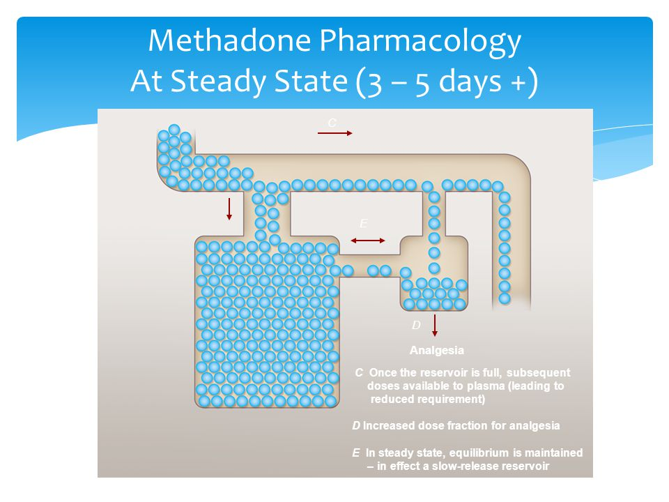 Methadone Pharmacology At Steady State (3 – 5 days +)