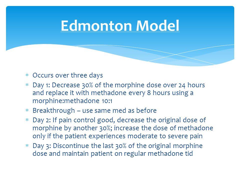 Edmonton Model Occurs over three days
