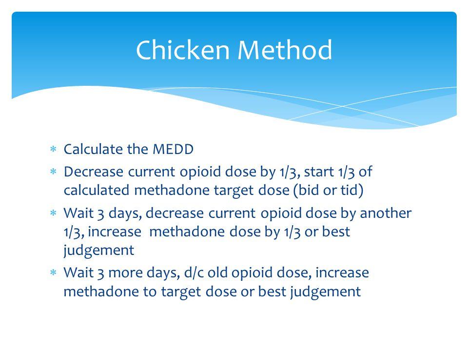 Chicken Method Calculate the MEDD