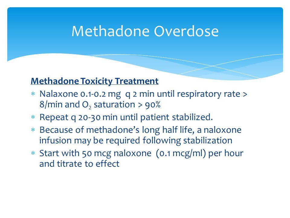 Methadone Overdose Methadone Toxicity Treatment
