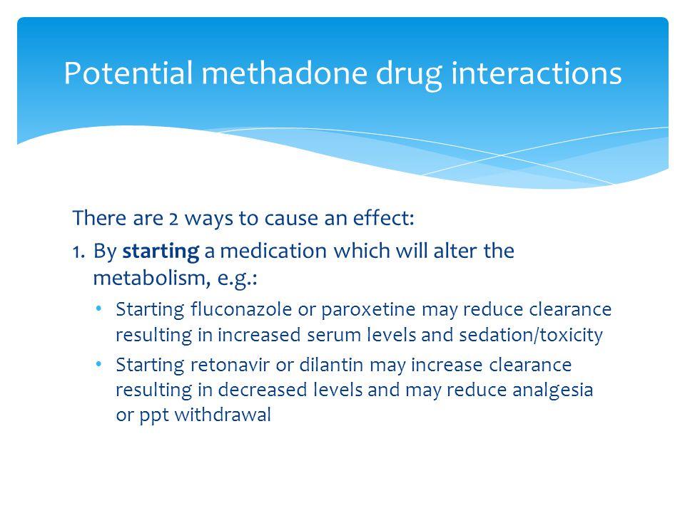 Potential methadone drug interactions