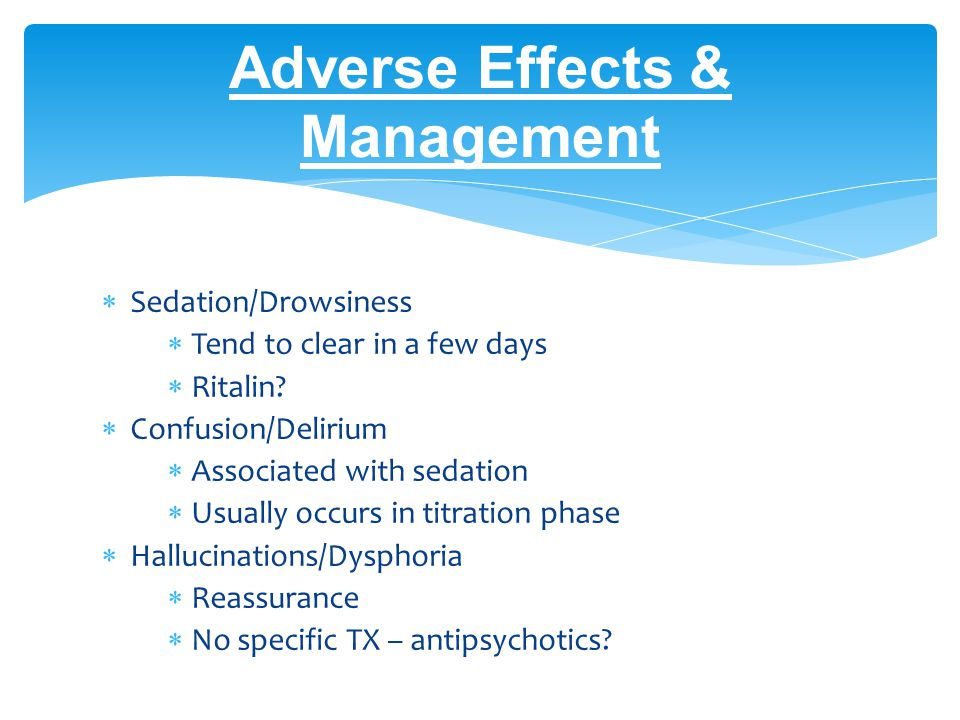 Adverse Effects & Management