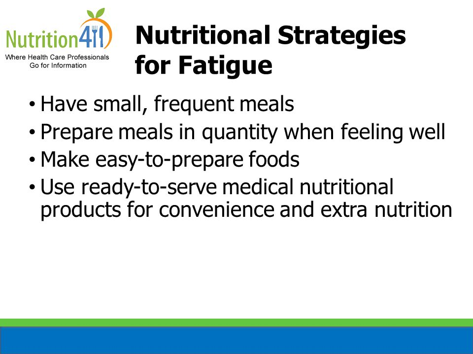 Nutritional Strategies for Fatigue