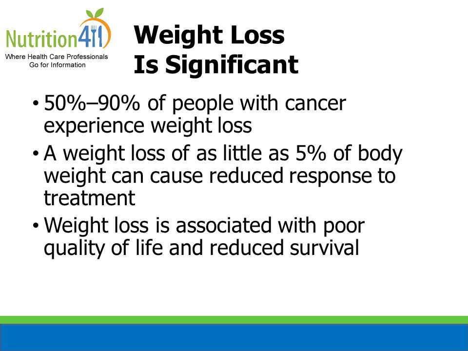 Weight Loss Is Significant