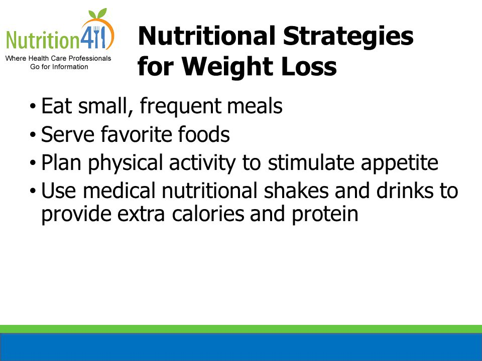 Nutritional Strategies for Weight Loss