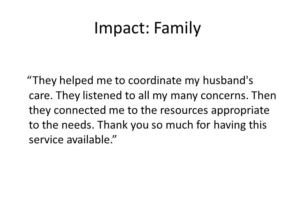 Impact: Family