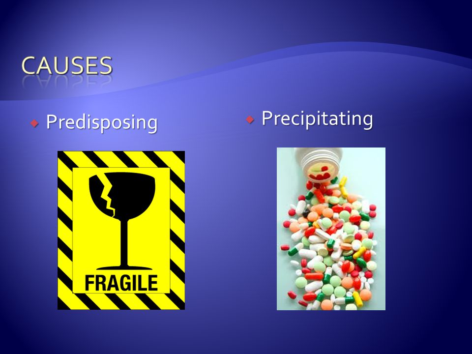 causes Precipitating Predisposing