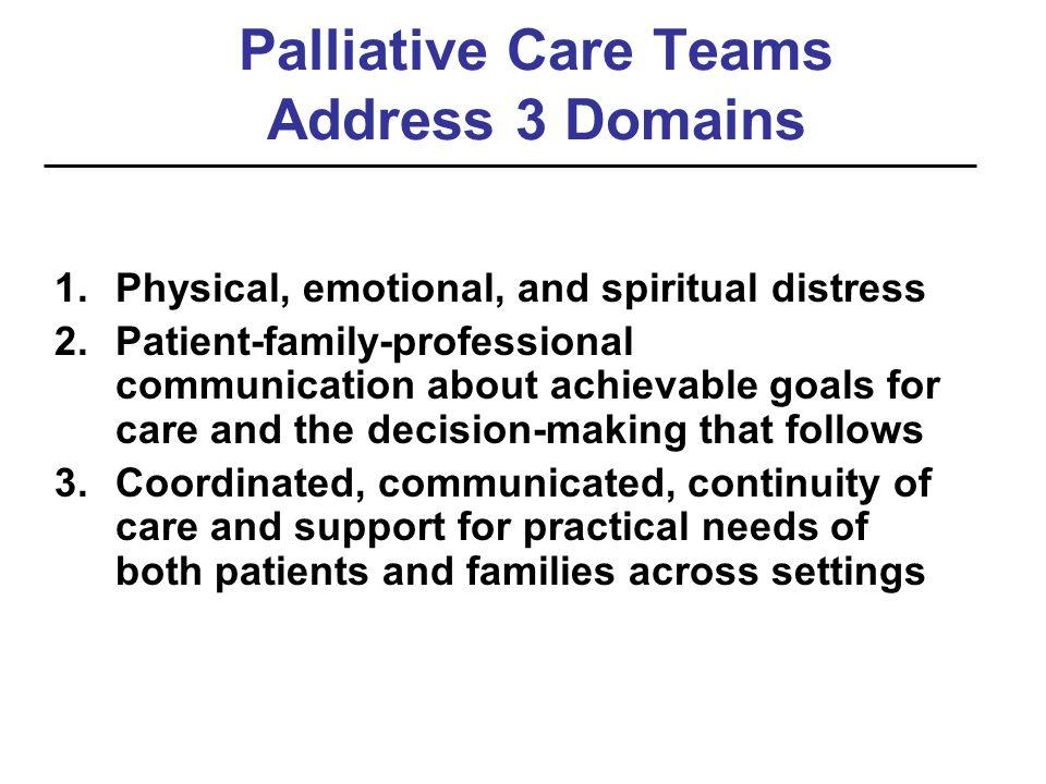 Palliative Care Teams Address 3 Domains