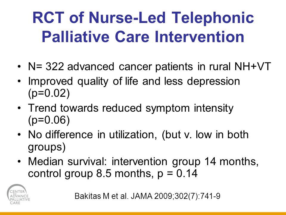 RCT of Nurse-Led Telephonic Palliative Care Intervention