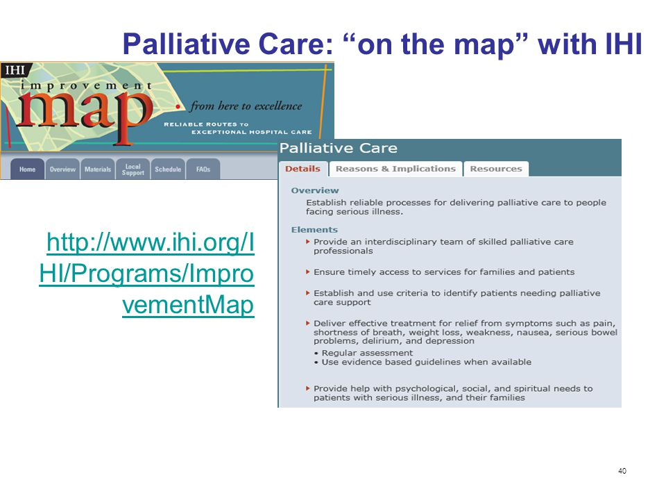 Palliative Care: on the map with IHI