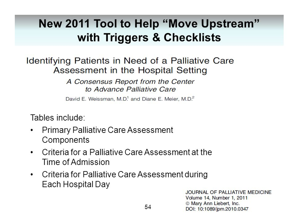 New 2011 Tool to Help Move Upstream with Triggers & Checklists