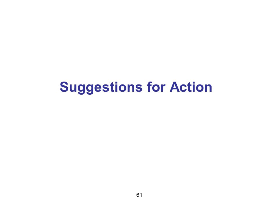Suggestions for Action