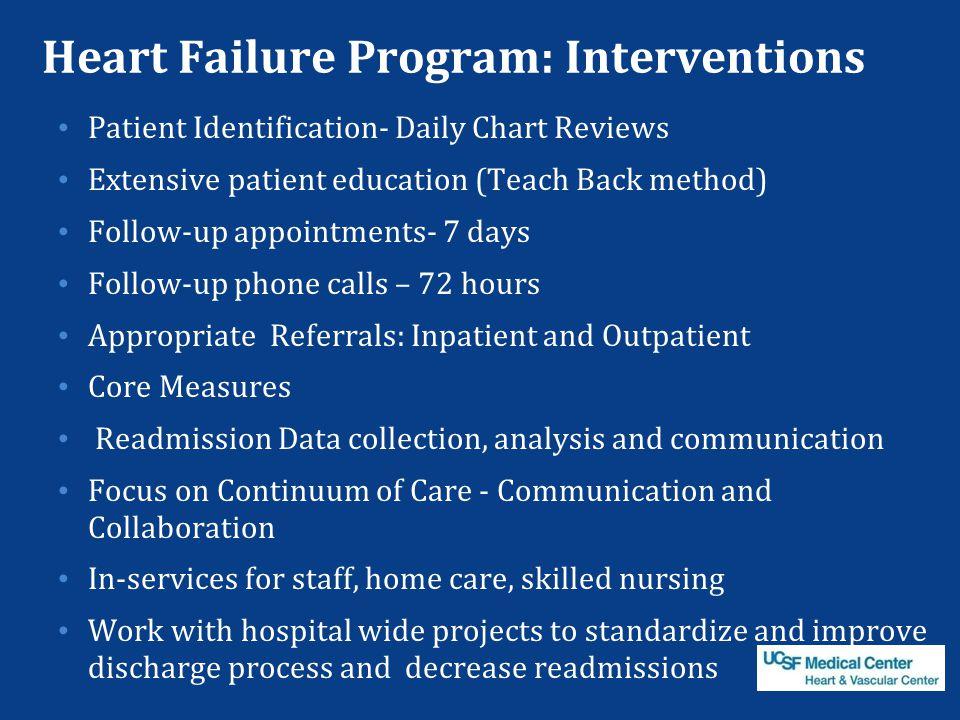Heart Failure Program: Interventions