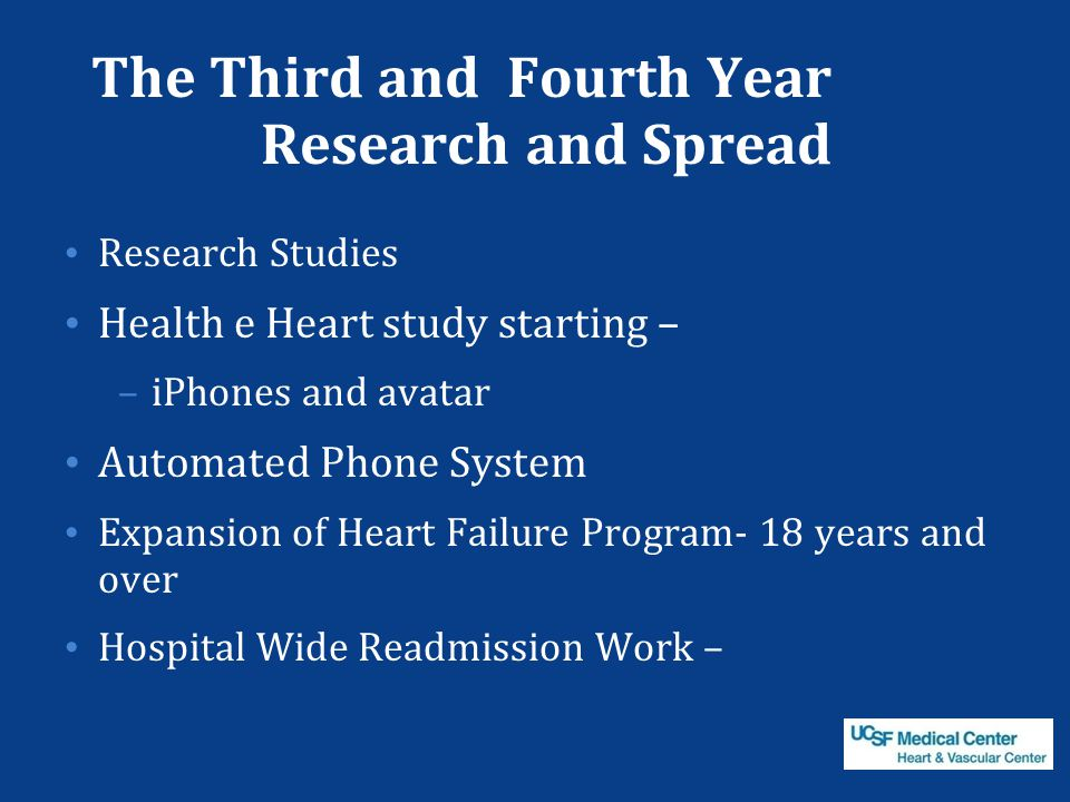 The Third and Fourth Year Research and Spread