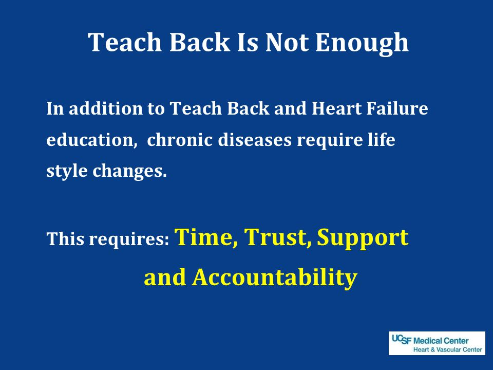 Teach Back Is Not Enough