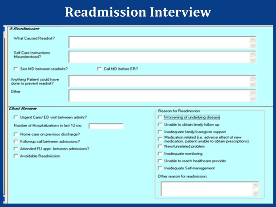 Readmission Interview