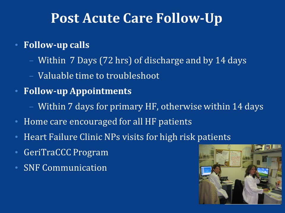 Post Acute Care Follow-Up