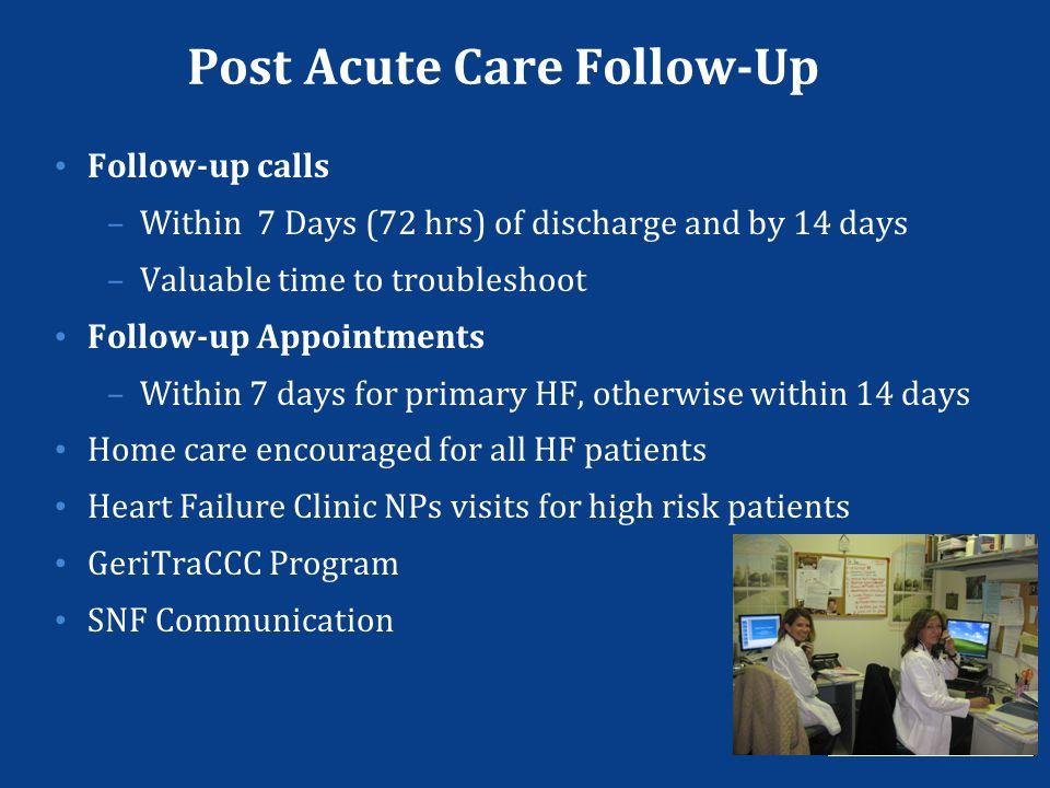 Post Acute Care Follow-Up