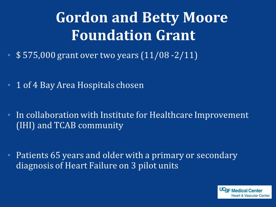 Gordon and Betty Moore Foundation Grant