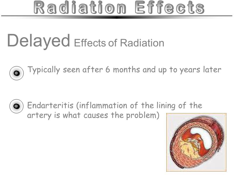 Delayed Effects of Radiation