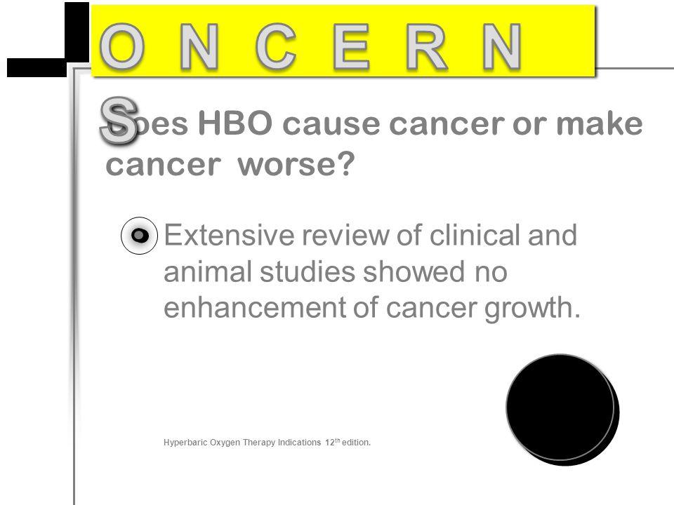 ONCERNS Does HBO cause cancer or make cancer worse