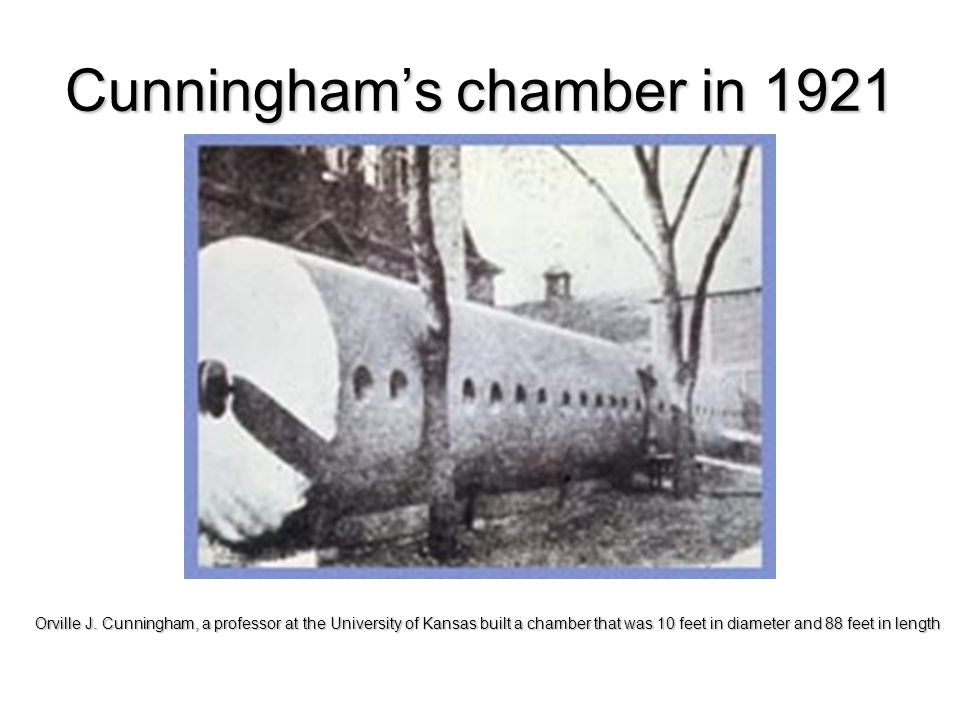 Cunningham's chamber in 1921