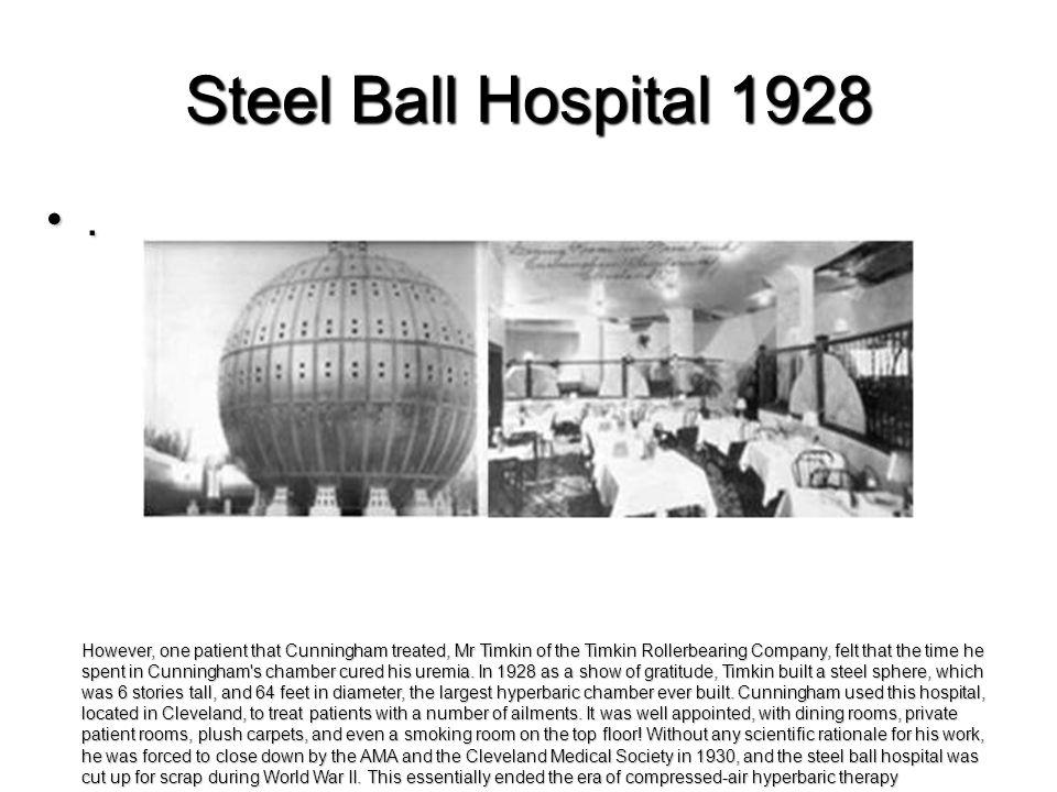 Steel Ball Hospital 1928 .