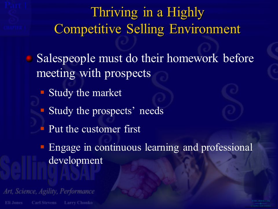 Thriving in a Highly Competitive Selling Environment