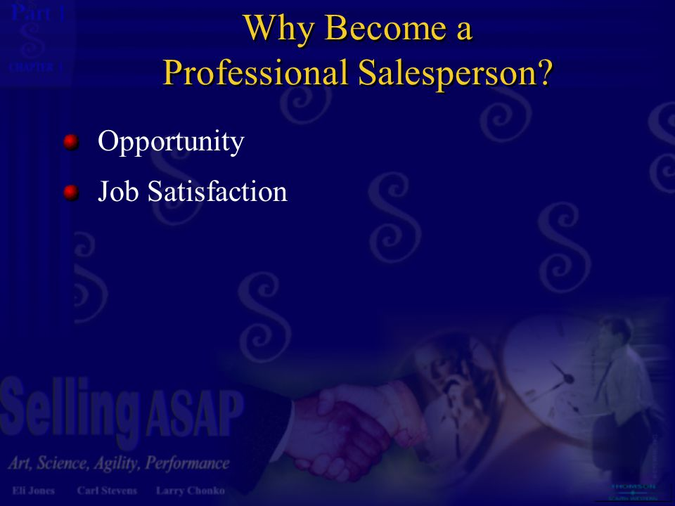 Why Become a Professional Salesperson