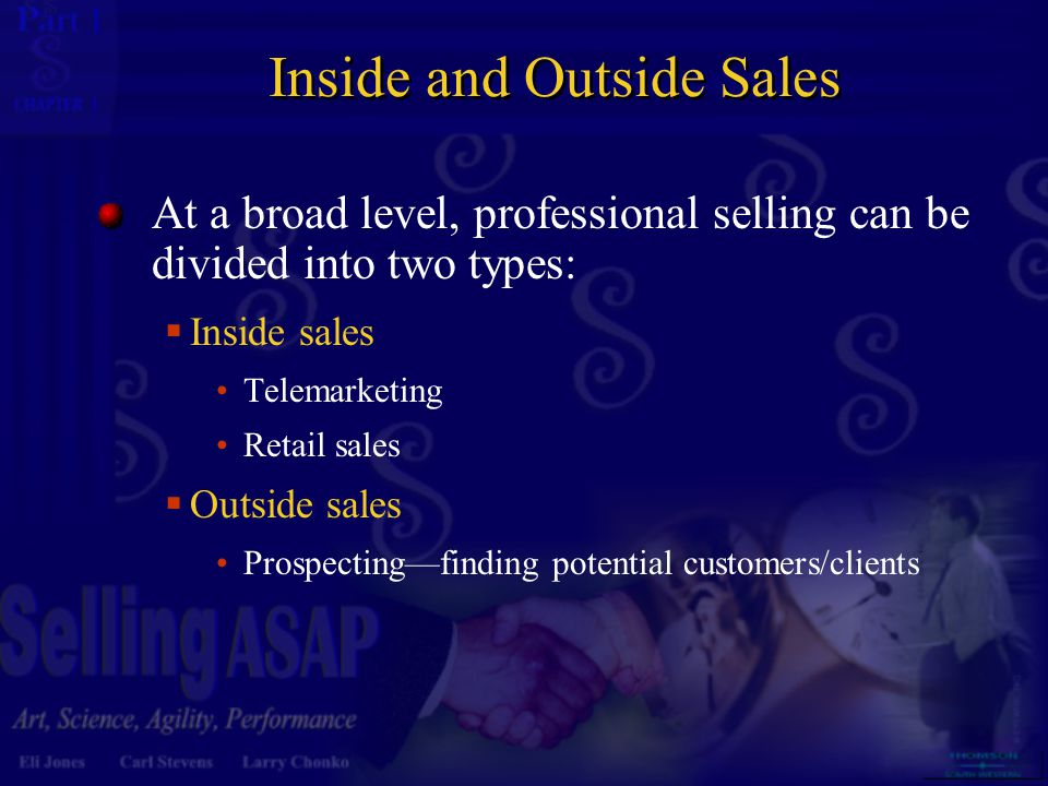 Inside and Outside Sales