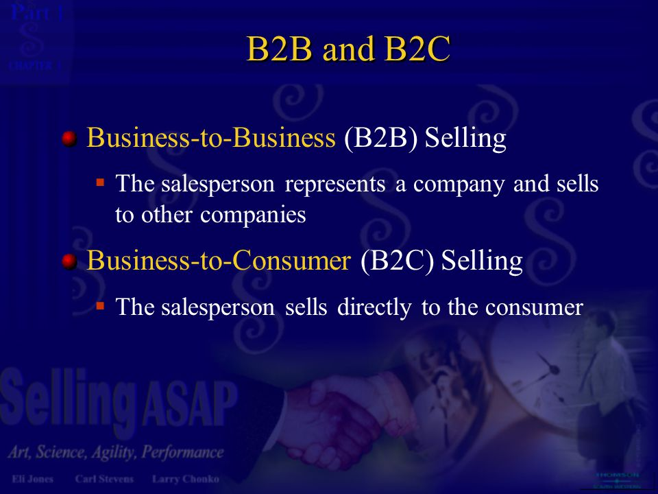 B2B and B2C Business-to-Business (B2B) Selling