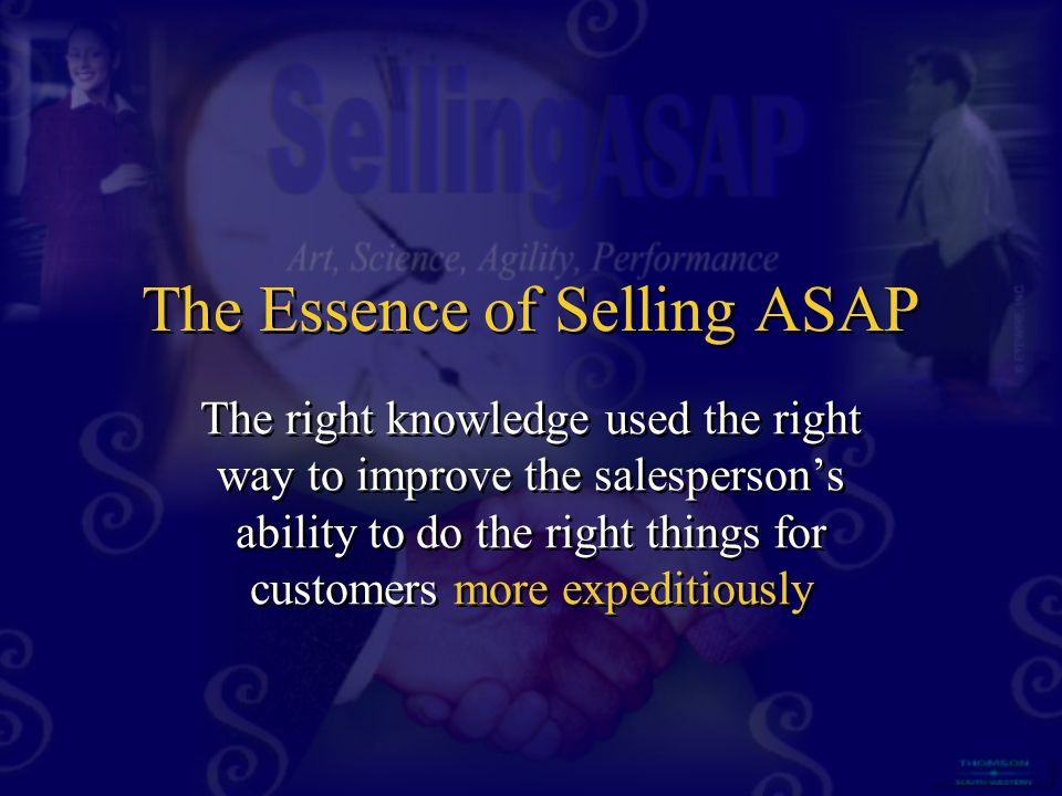 The Essence of Selling ASAP