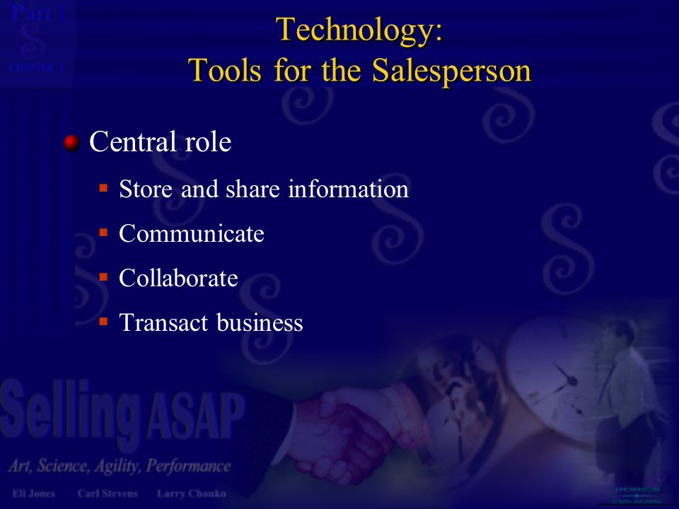 Technology: Tools for the Salesperson