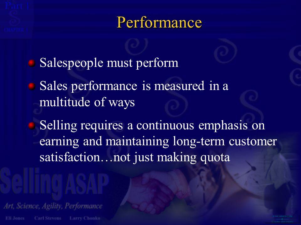 Performance Salespeople must perform