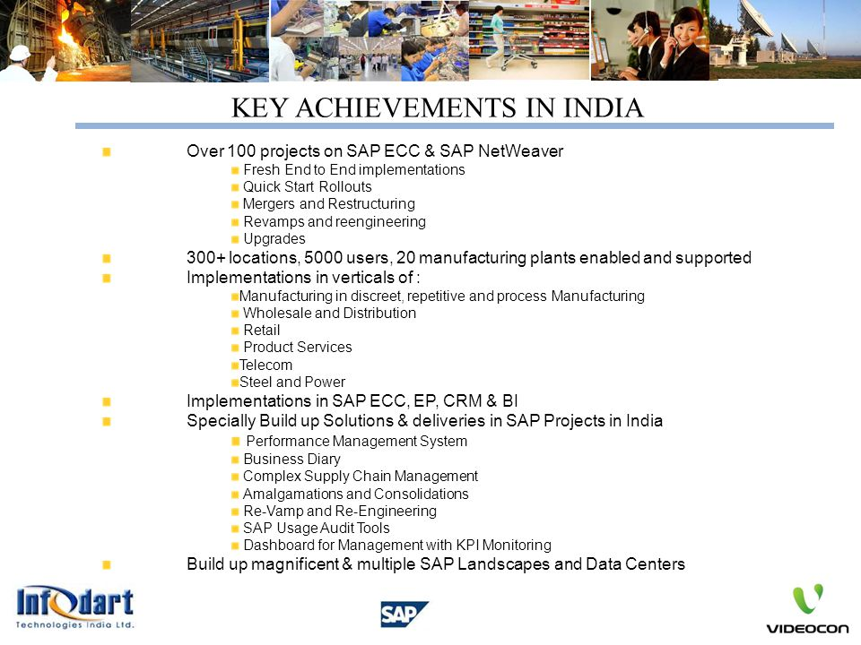 KEY ACHIEVEMENTS IN INDIA