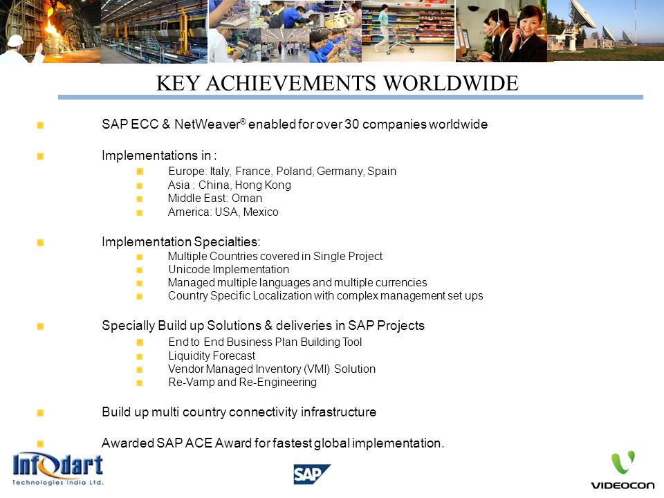 KEY ACHIEVEMENTS WORLDWIDE
