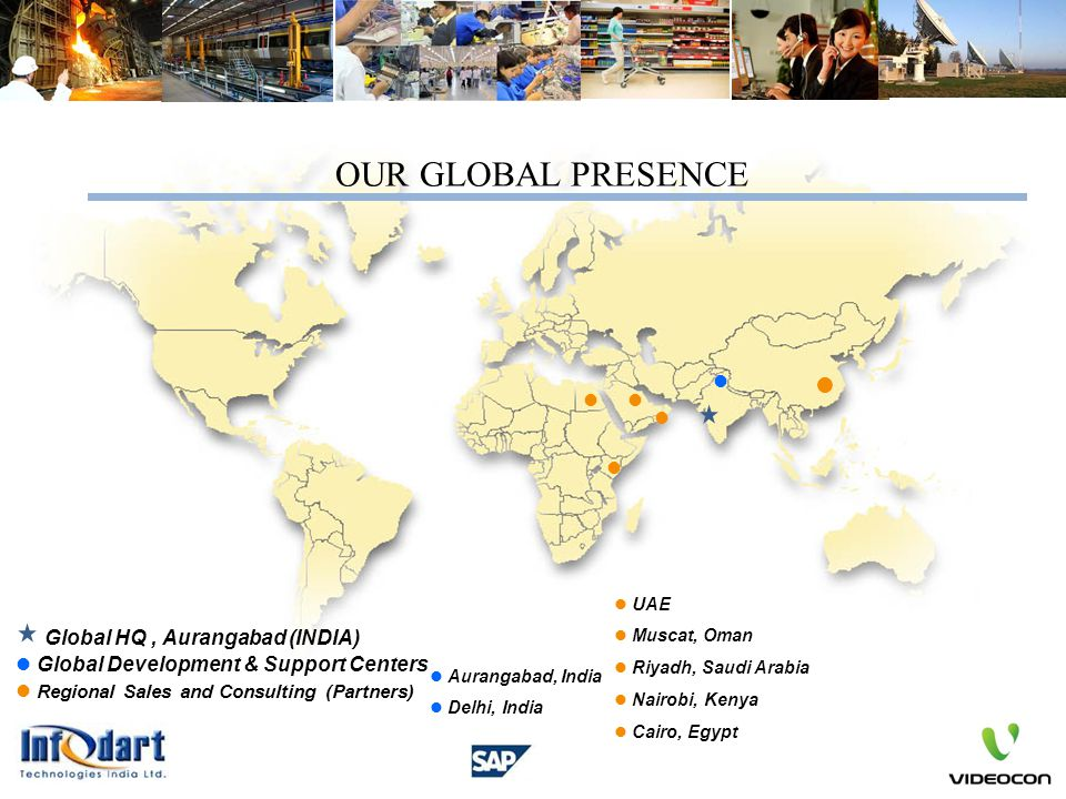 OUR GLOBAL PRESENCE Global HQ , Aurangabad (INDIA)