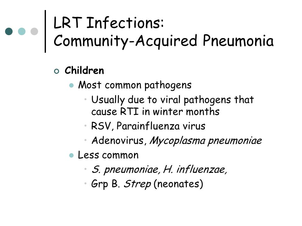 LRT Infections: Community-Acquired Pneumonia